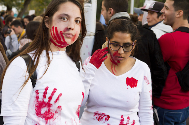 Protest in Neuquen, Argentina against violence against women. (Emiliano Ortiz)